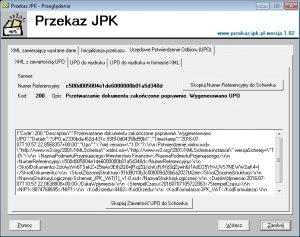 XML zawierający UPO
